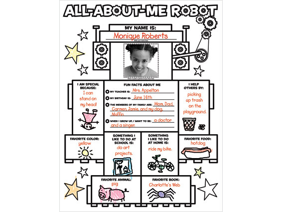 poster: All About Me Robot