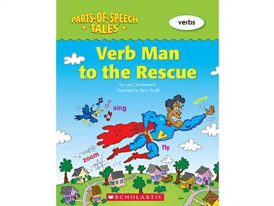 book cover: Verb Man to the Rescue
