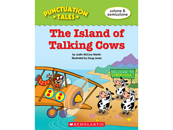 book cover: The Island of Talking Cows